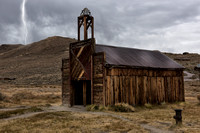 Bodie Fire Station With Lightning