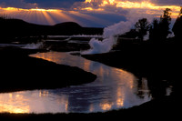 Sunset Reflection on the Firehole River