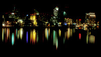 Cityscapes-Skylines-Night Sky