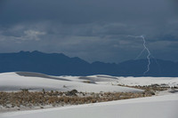 Lightning At White Sands National Monument