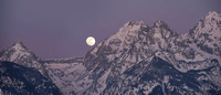 Moonset On The Grand Tetons
